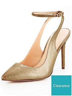 v-by-very-rome-open-back-point-court-shoe-gold