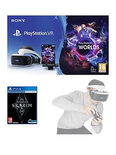 playstation-vr-vr-headset-with-playstation-camera-vr-worlds-and-the-elder-scrolls-v-skyrim-with-optional-move-controller-twin-pack