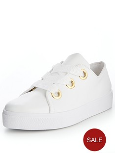 v-by-very-pear-eyelet-trainer-white