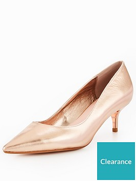 1410d3ef31b Dune London Alesandra Wide Fit Kitten Heel Court Shoe - Rose Gold ...