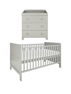 little-acorns-cot-bed-amp-changer-nursery-furniture-set-grey-buy-and-save