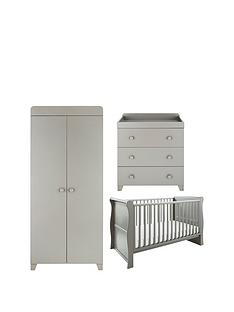 little-acorns-sleigh-cot-bed-changer-amp-wardrobe-nursery-furniture-set-grey-buy-and-save
