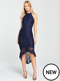 ax-paris-cutaway-sleeve-dress-navy
