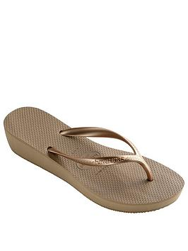 1b9df933e287e1 Havaianas High Light Wedge Flip Flop Sandal - Rose Gold ...