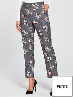 v-by-very-petite-check-amp-floral-slim-leg-trouser