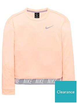 f4c12a7ae4b50 Nike Older Girls Dry Core Studio Crew - Pink | littlewoodsireland.ie