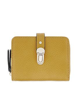 accessorize-accessorize-tara-yellow-push-lock-wallet-purse