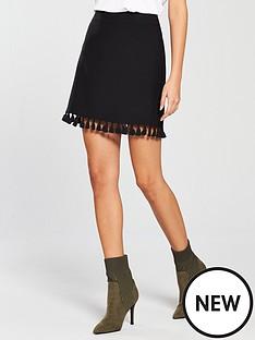 v-by-very-tasselnbspa-line-skirt-black