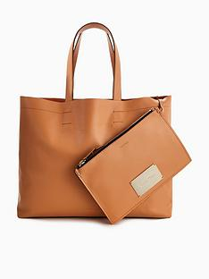 calvin-klein-leather-shopper-tote-bag-ndash-tan