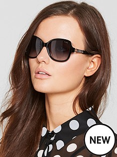 guess-chain-detail-sunglasses-black