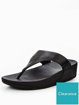 af648d86d7348b FitFlop Lulu Leather Toe Post Sandal - Black