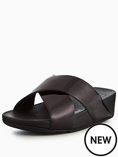 53984f7d9 FitFlop Lulu Cross Slide Sandal - Black