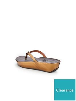 ddfe321a9 FitFlop Linny Toe Thong Sandal - Bronze