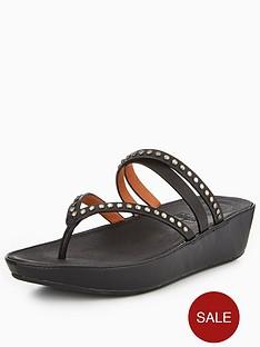 abe934bf4c0967 FitFlop Linny Criss Cross Toe Thong Sandal - Black