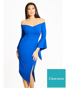 jessica-wright-imogen-bardot-fluted-sleeve-midi-dress