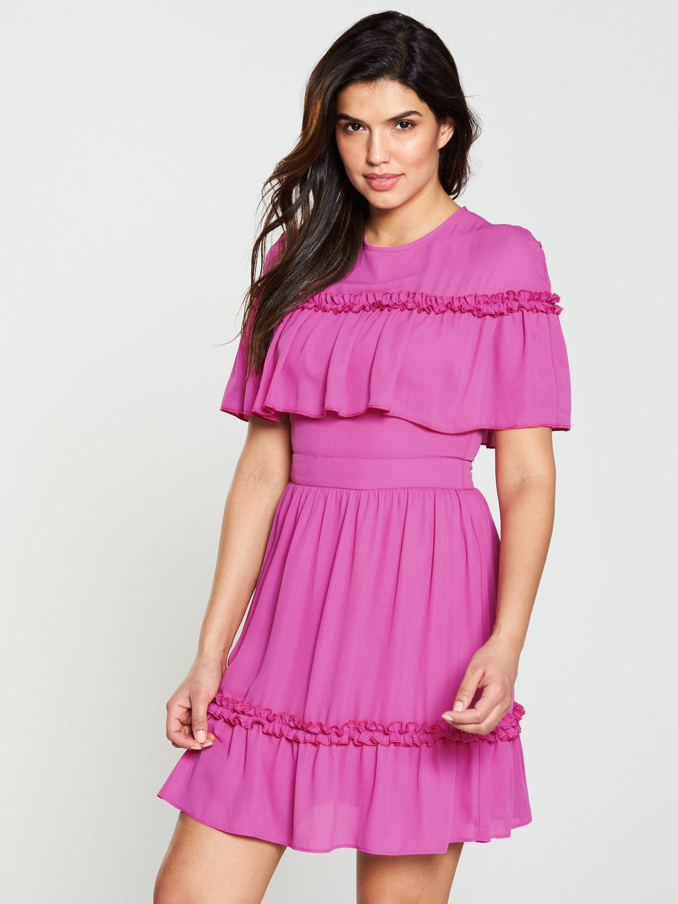V by Very Mock Cape Dress
