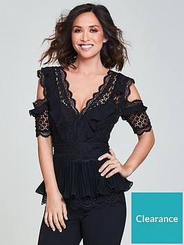 4e51a62af156 Myleene Klass Premium Mixed Lace Jumpsuit - Black ...