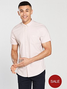 v-by-very-short-sleeve-oxford-shirt-pinknbsp