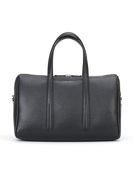 boss-taylornbspduffle-leather-bag-black