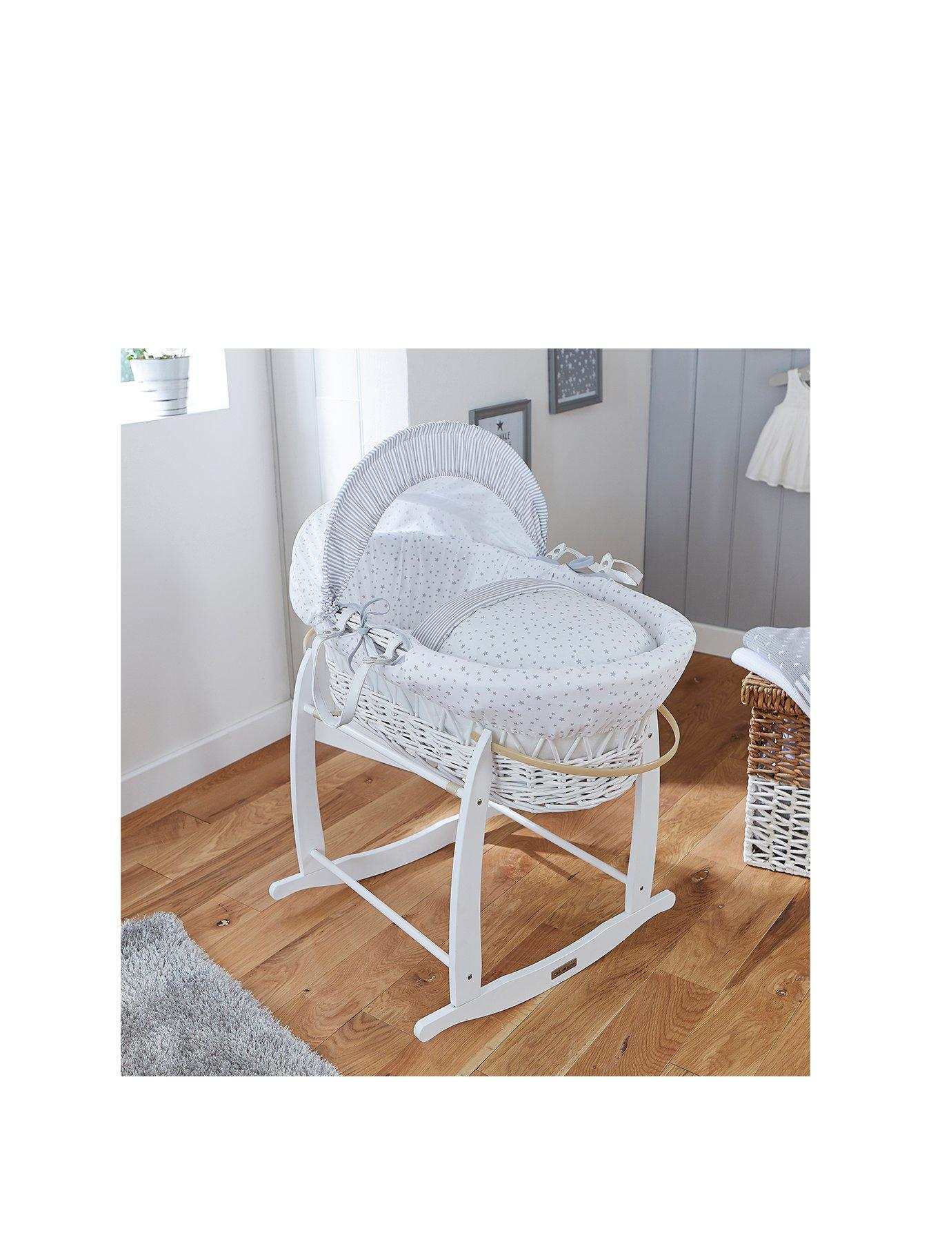 Baby Todler Breathable Mattress Fits NOAH POD Mosses Basket 74 x 28 cm