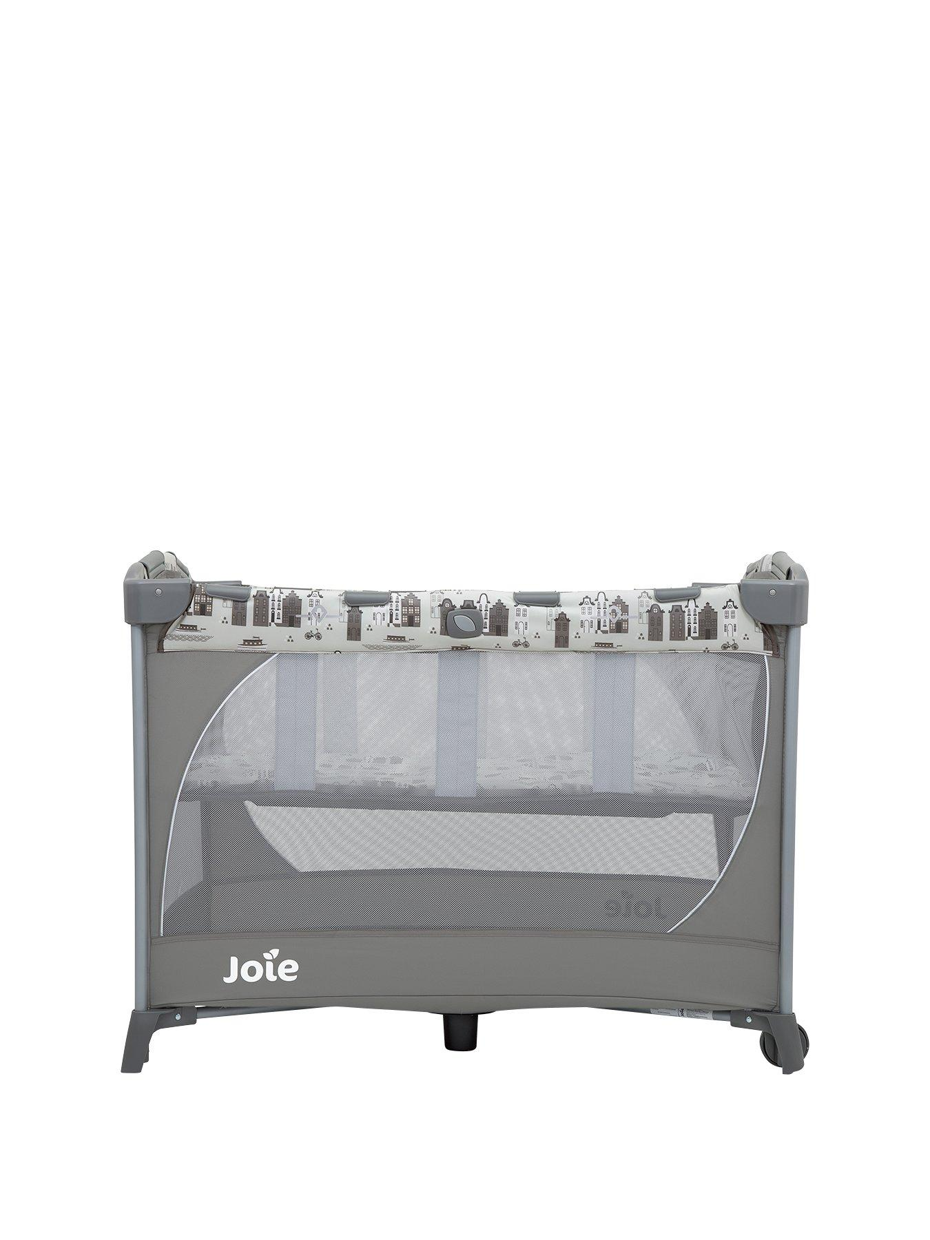 MC Bassinet Travel Cot with Changer and Sounds Unit G is for Giraffe