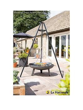 la-hacienda-tripod-outdoor-cooker-with-adjustable-height-grill