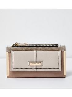 river-island-beige-zip-foldout-purse