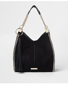 river-island-black-chain-side-slouch-bag