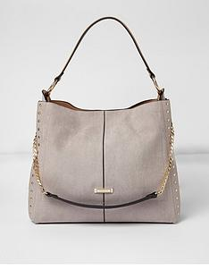 river-island-river-island-oversized-grey-studded-slouch-bag