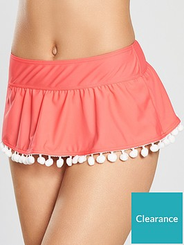 v-by-very-shapewear-pom-pom-swim-skirt-flamingo