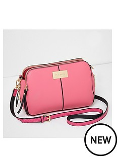 river-island-quilted-triple-compartment-crossbody-bag-pink