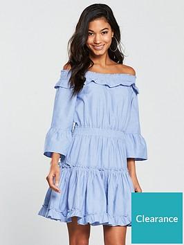 v-by-very-bardot-cotton-ra-ra-dress-blue