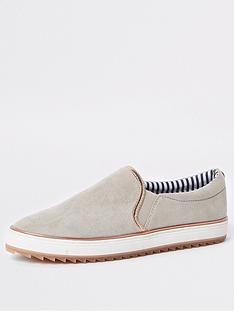 river-island-chunky-slip-on--grey