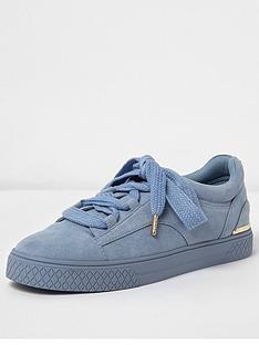 river-island-lace-up-chunky-trainer-light-blue