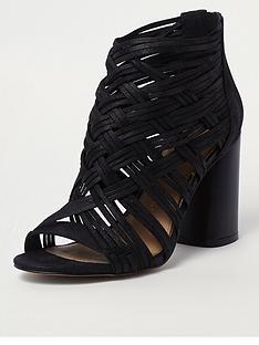 river-island-lattice-block-heel-shoe-boot-black