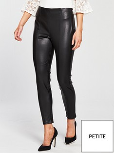 miss-selfridge-petite-pu-side-zip-legging