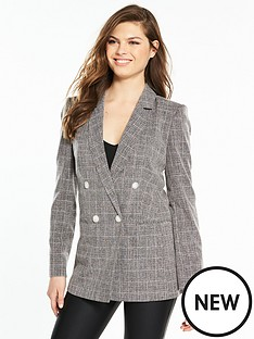 miss-selfridge-check-blazer-greynbsp