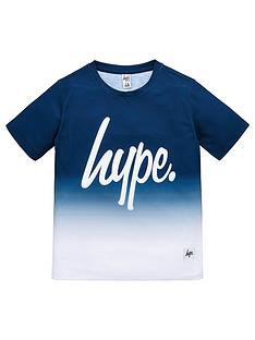 hype-boys-short-sleeved-navy-fade-t-shirt