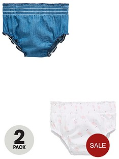 mini-v-by-very-baby-girls-pack-of-2-frill-flamingo-and-chambray-knickers-multi