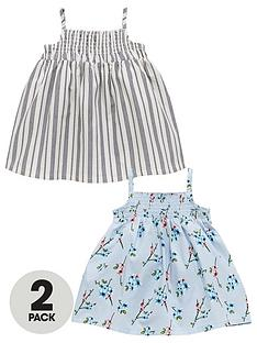 mini-v-by-very-baby-girls-2-pack-woven-stripe-amp-floral-dresses-multi-coloured