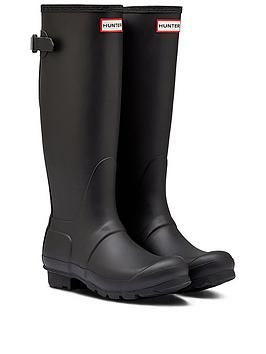 hunter-original-back-adjustable-wellington-boots-black