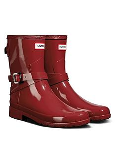 hunter-refined-back-adjustable-short-with-ankle-strap-gloss-welly