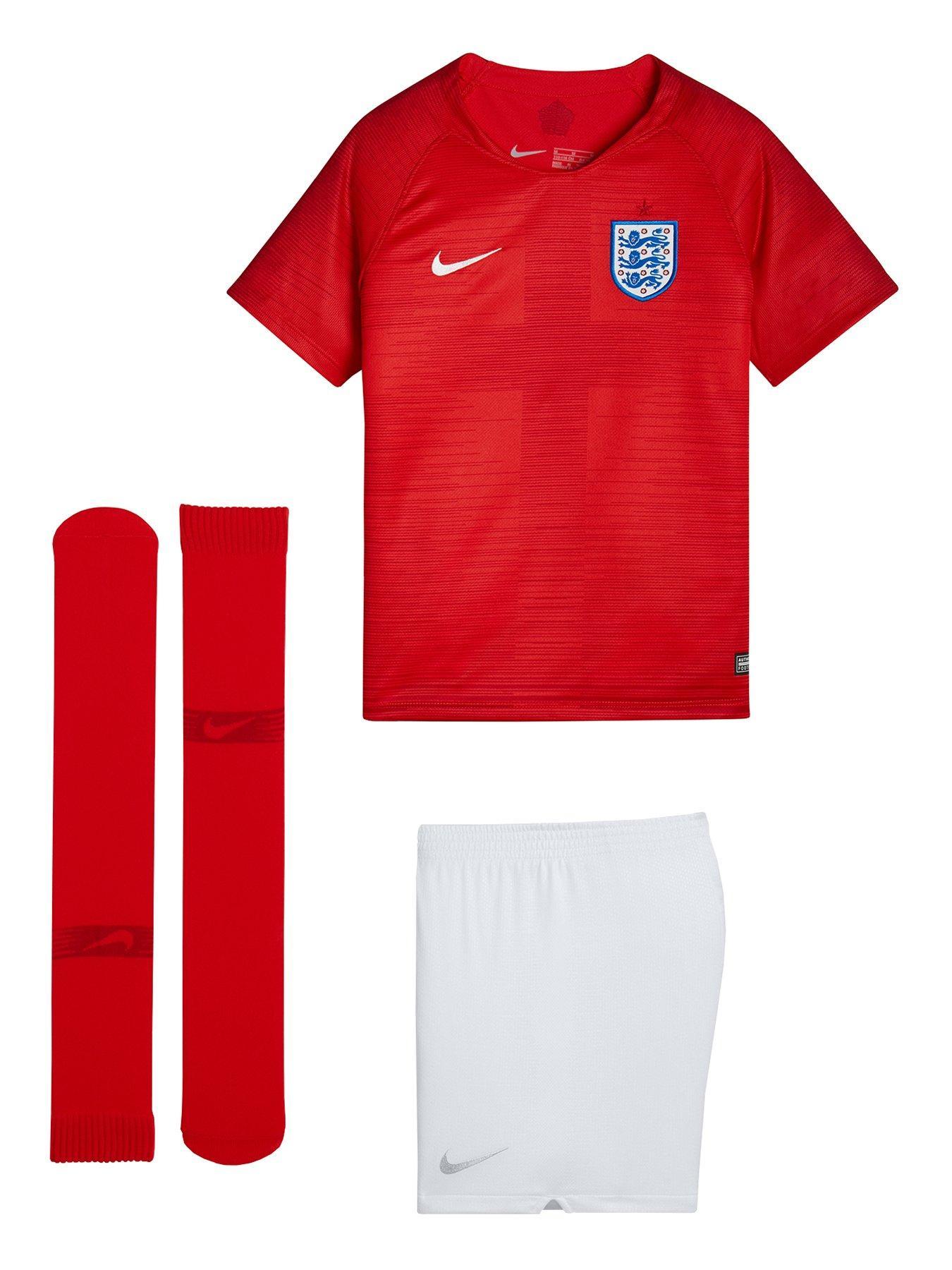 Nike Little Kids England Away Kit - Red/White