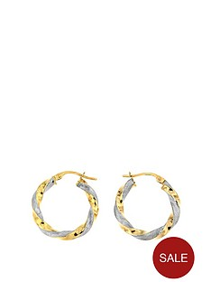 bracci-bracci-9ct-two-colour-plain-and-textrued-hoop-creole-15mm-earrings