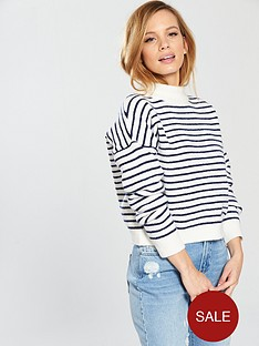 miss-selfridge-petitenbspfunnel-neck-knitted-jumper