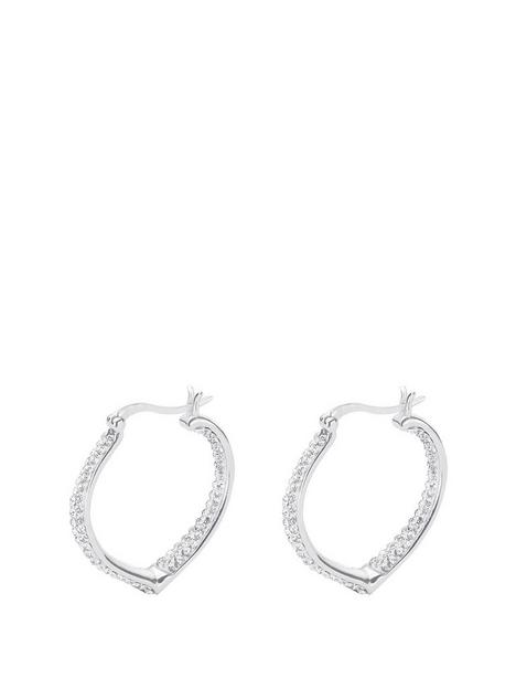 the-love-silver-collection-sterling-silver-double-crystal-set-heart-shaped-creole-earrings