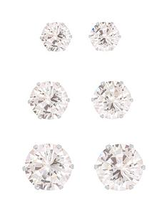 love-silver-sterling-silver-set-of-3mm-4mm-and-5mm-cubic-zirconia-studs