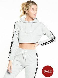 miss-selfridge-pineapple-mono-elastic-crop-hoodie-grey-marl