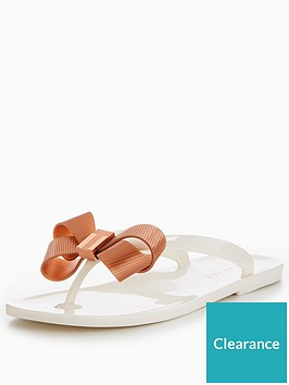 5c5deb098686 Ted Baker Suszie Bow Jelly Flip Flop