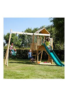 tp-kingswood-tower-with-rapide-slide-amp-swing-set-with-skyride-amp-deluxe-swing-seat